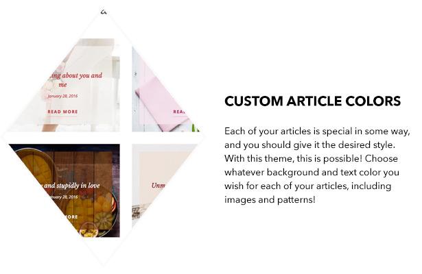Custom article colors