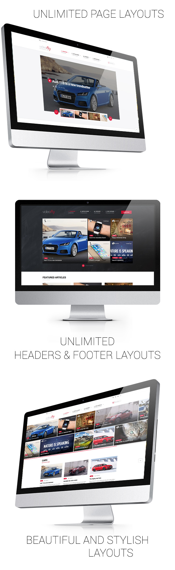 Multiple layouts and homepages