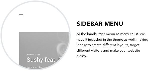 Sidebar menu