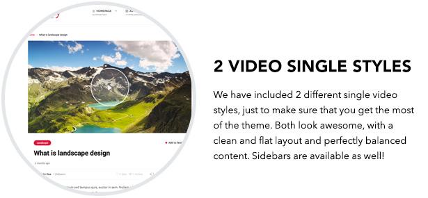 2 single video styles