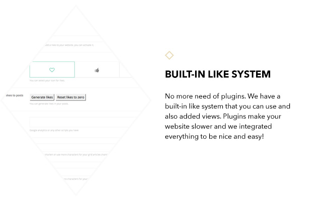 Built-in like system