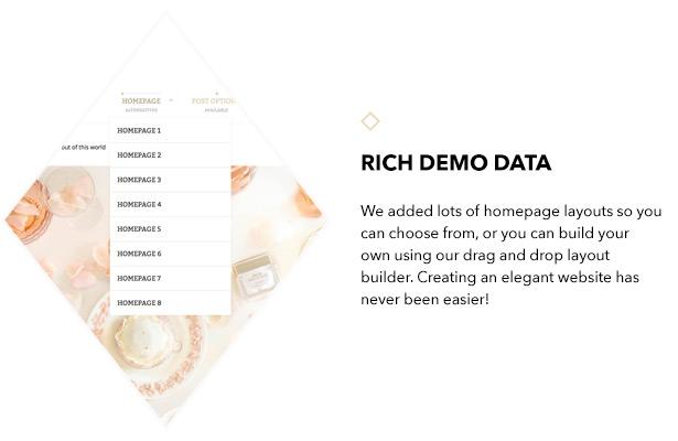 Rich demo data