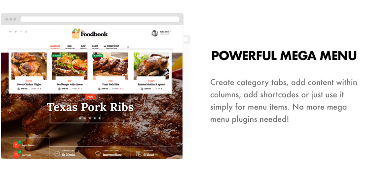 Foodbook - Recipe Community, Blog, Food & Restaurant Theme - 13