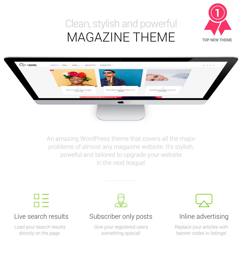 Louvre - Minimal Magazine and Blog WordPress Theme - 1